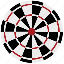 arrow board, board, dartboard, darts, sports icon