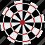 arrow board, board, dartboard, darts, sports icon