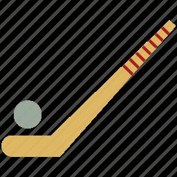 hockey, hockey ball, hockey stick, hockey stick and ball, sports icon