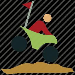 bike, biker, biking, dirt bike, dirt biking, mountain biking, sports icon