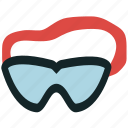 goggles, sports, swimmer, swimming, swimming goggles icon