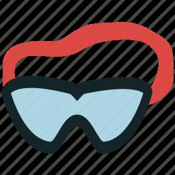 goggles, sports, swimmer, swimming, swimming goggles icon