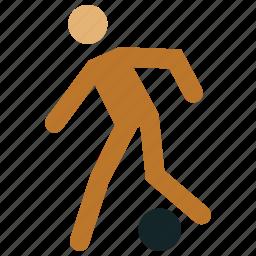 football, football player, man playing football, playing football, sports icon