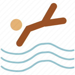 diver, diving, sports, swimmer, swimming, swimming pool icon