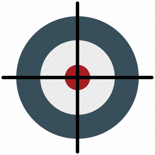 shooting, sports, sports shooting, target icon