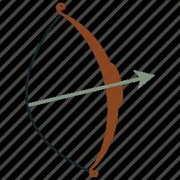 archery, arrow, bow, bow and arrow, sports, weapon icon
