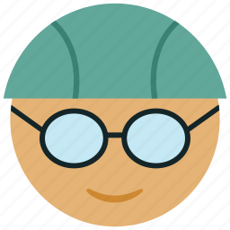 goggles, sportsman, swimmer, swimmer with goggles, swimming icon