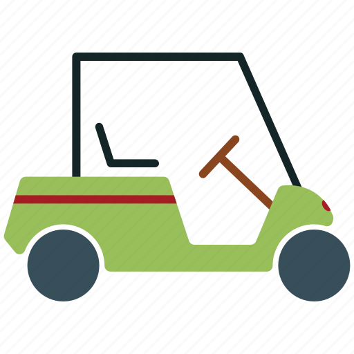 cart, golf, golf car, golf cart, sports cart icon