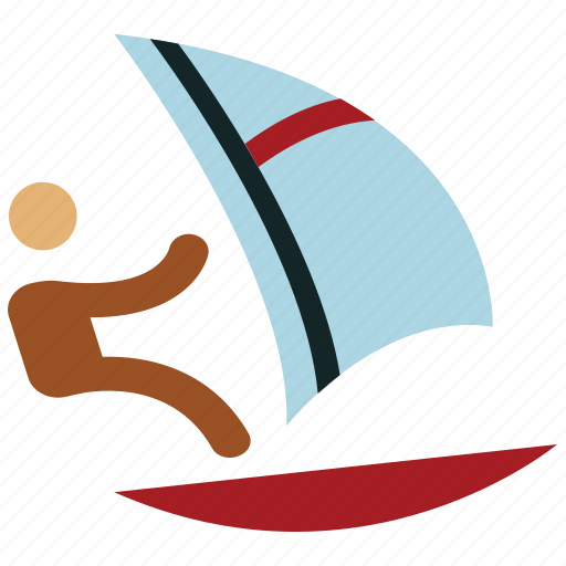 canoeing, kayaking, olympic, racing, sailing, sports, sports sailing icon