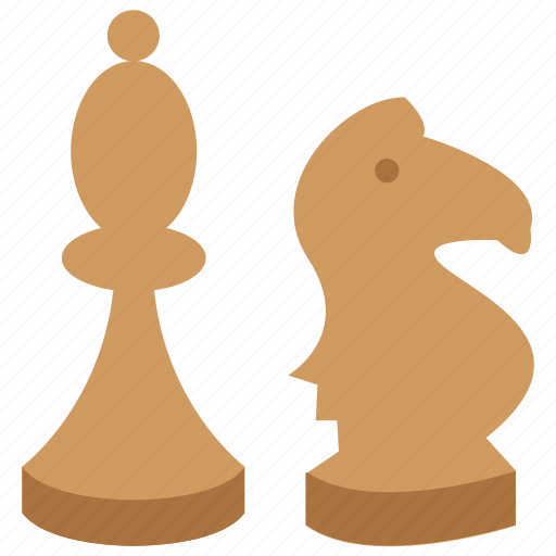 bishop, chess, game, knight icon