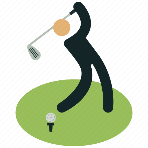 club, golf, golf club, golf court, golf player, sports, strike icon