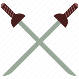 cross swords, fighting, sports, swords, swords fight, swords fighting icon