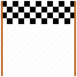 finishing point, race, racing, starting point icon