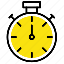 alarm, clock, stopwatch, timer, watch icon