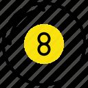 ball, billiards, eight, game, pool, racked, sports icon
