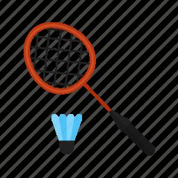 badminton, equipment, game, leisure, racket, shuttlecock, sport icon