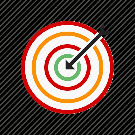 archery, arrow, bulls eye, dartboard, darts, shoot, target icon