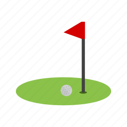 ball, flag, goal, golf, play, post, sports icon
