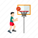 activity, basketball, hoop, player, score, sport icon