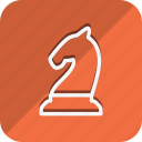 chess, chess knight, fitness, games, gym, sport, sports icon