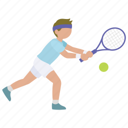 backhand, mens, racquet, rally, return, sports, tennis icon