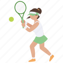 backhand, ladies, racquet, sports, tennis, woman, womens