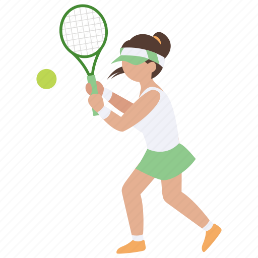 backhand, ladies, racquet, sports, tennis, woman, womens icon