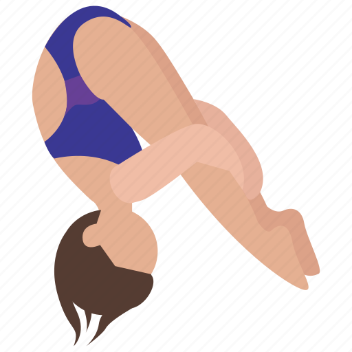 acrobatics, competition, dive, diving, somersault, sport icon