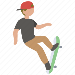 flip, hobby, pro, skateboard, skateboarder, skateboarding, trick icon