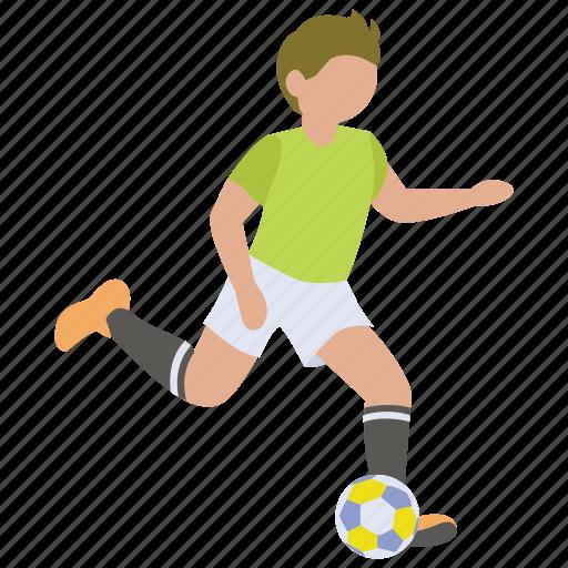 ball, dribble, football, kick, player, soccer icon