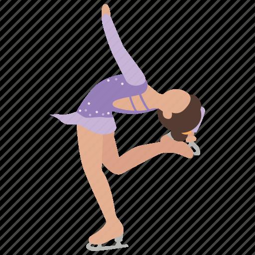 figure, figure skating, ice, skate, skating, sport icon