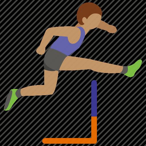 athletics, hurdle, hurdling, jumping, race, running, track icon