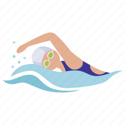 freestyle, pool, race, surf, swim, swimmer, swimming icon