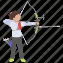 archery, arrow, bow, shooting, sport, target