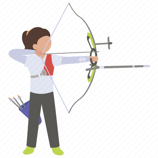 archery, arrow, bow, shooting, sport, target icon