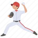 american, ball, baseball, pitch, pitcher, player, throw icon