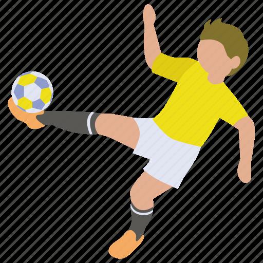 ball, football, kick, player, score, soccer, striker icon