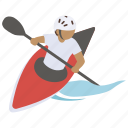 canoe, kayak, kayaking, sea, sport, surf, whitewater icon