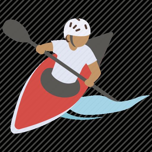 canoe, kayak, kayaking, sea, sport, surf, whitewater icon