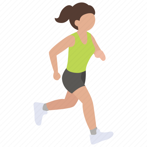 exercise, jog, jogging, race, run, running, sprinting icon
