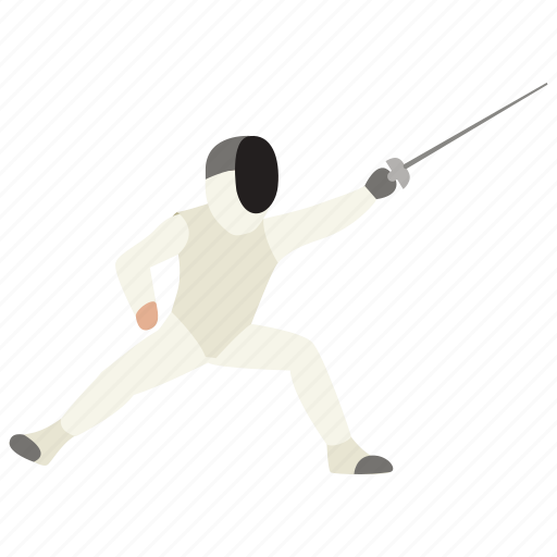duel, fencing, fighting, lunge, riposte, sport, swordplay icon