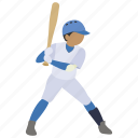 baseball, bat, batter, batting, hit, home run, strike icon