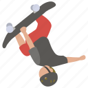 flip, jump, pro, skateboard, skateboarder, skateboarding, trick icon