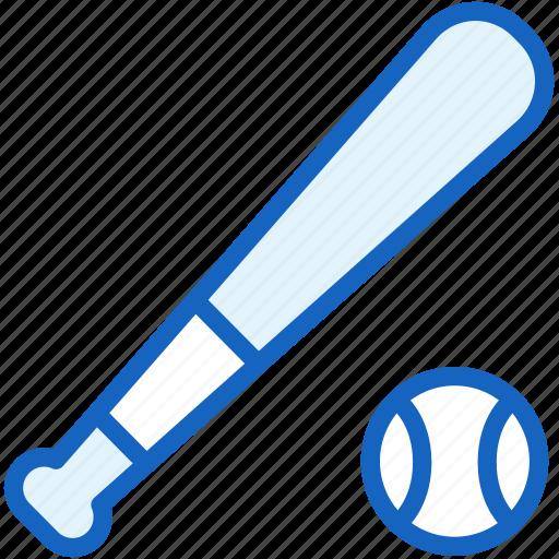 baseball, bat, sports icon