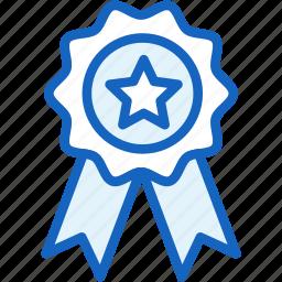 achievement, medal, sports, star, winner icon