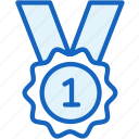 first, medal, place, sports, winner icon