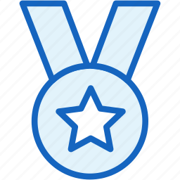 achievement, medal, sports, star icon