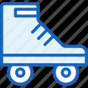 roller, skate, skater, skating, sports icon