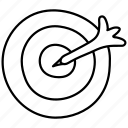 darts, goals, target icon
