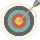 archery, bullseye, goal, target icon